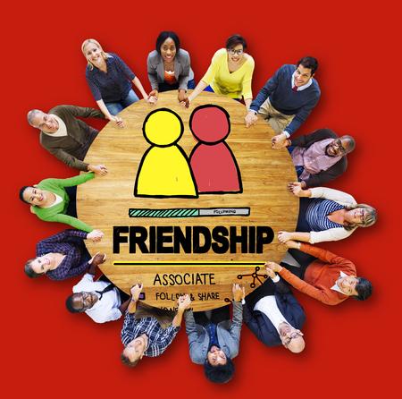confidant: Friendship Group People Social Media Loyalty Concept