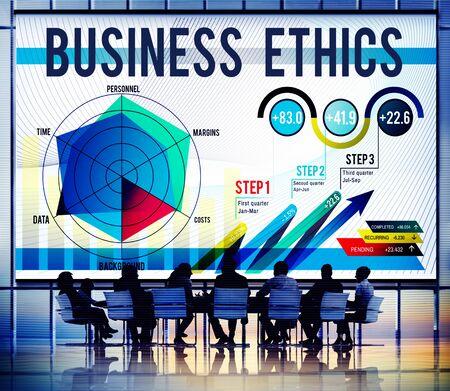 ビジネス倫理の整合性道徳的な Responsibiliyt 正直コンセプト 写真素材