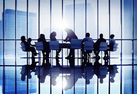 COLABORACION: Reunión Colaboración Seminario Business Conference Team Concept Foto de archivo