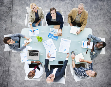 african business people: Business Team Discussion Meeting Analysing Concept Stock Photo