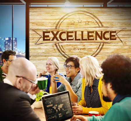 proficiency: Exellence Ability Intelligence Perfection Proficiency Concept Stock Photo