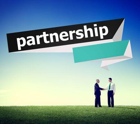 team building: Partnership Teamwork Team Building Organazation Concept Stock Photo