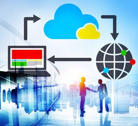 cloud computing: Cloud Computing Data Information Network Concept