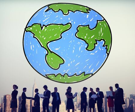 global networking: Global Networking Communication Economy Worldwide Concept Stock Photo