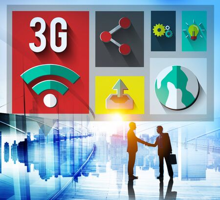 3g: 3G Networking Global Communications Connection Concept Stock Photo