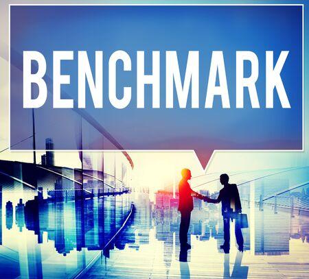 benchmark: Benchmark Standard Management Improvement Benchmarking Concept Stock Photo