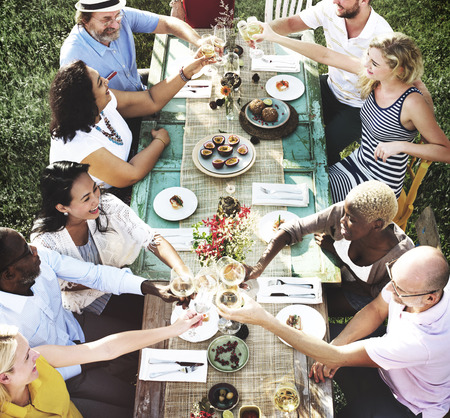 holiday dinner: Friends Friendship Party Hanging out Concept