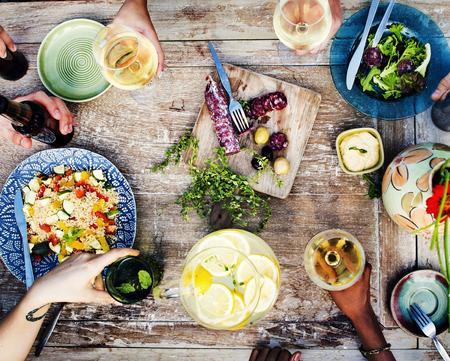 식품 음료 파티 식사 음료 개념