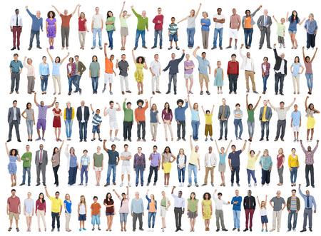 diversidad: Diversidad Celebración Éxito Felicidad Comunidad concepto de multitud Foto de archivo