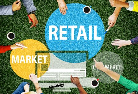 buy sell: Retail Consumer Commerce Market Purchase Concept Stock Photo