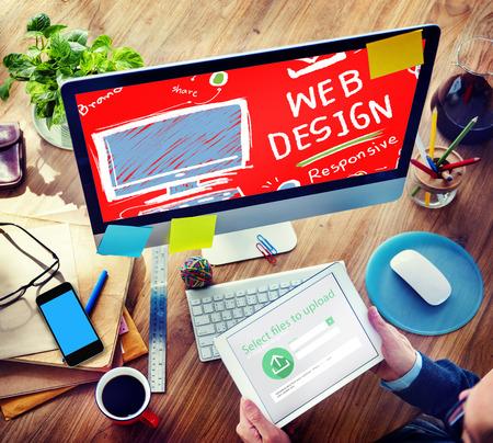 Web Design Web-Entwicklung Responsive Markenkonzept