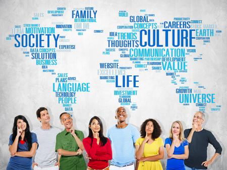 Kultur Gemeinschaft Ideologie Society Prinzip Konzept Standard-Bild - 44464596