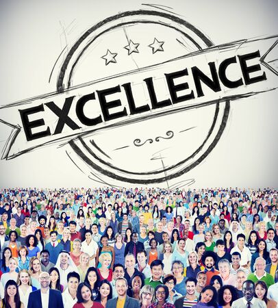 excellence: Exellence Ability Intelligence Perfection Proficiency Concept Stock Photo