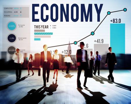経済金融投資のお金を銀行の利益概念 写真素材