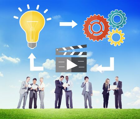 creativity: Planning Ideas Creativity Inspiration Thoughts Multimedia Concept
