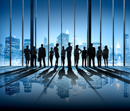 the way forward: Business People Silhouette The Way Forward Vision Concepts