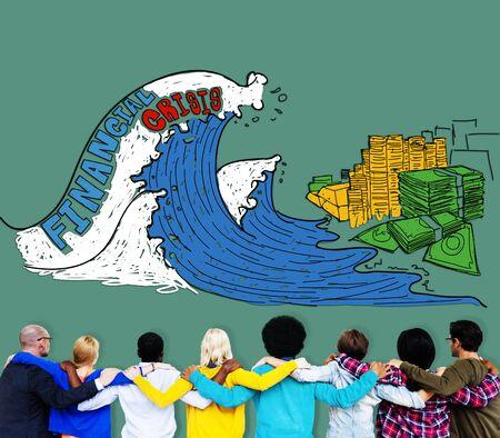 financiele crisis: Financial Crisis Investment Money Economy Concept Stockfoto