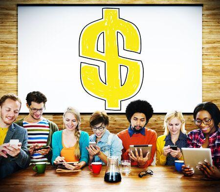 signo pesos: S�mbolo del d�lar dinero financiero Cambio de divisas Concepto Foto de archivo