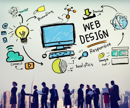 web content: Web Design Web Development Responsive Branding Concept