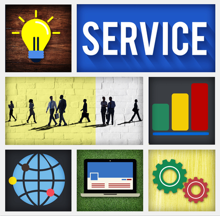 business services: Service Support Customer Satisfaction Assistance Concept