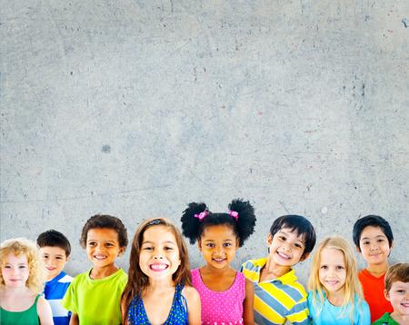 Diversity Children Friendship Innocence Smiling Concept Reklamní fotografie
