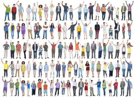 business diversity: People Diversity Success Celebration Happiness Community Crowd Concept Stock Photo