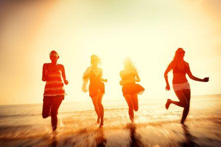 friendship day: Friendship Freedom Beach Summer Holiday Concept