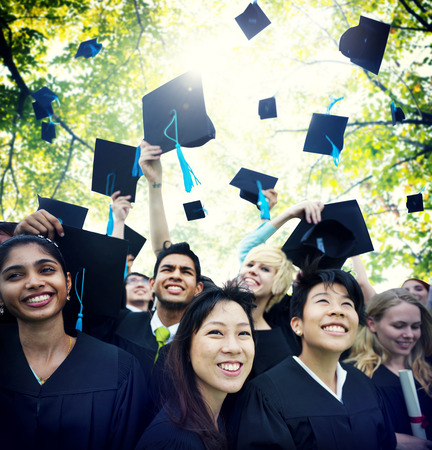 highschool students: Graduation Student Commencement University Degree Concept