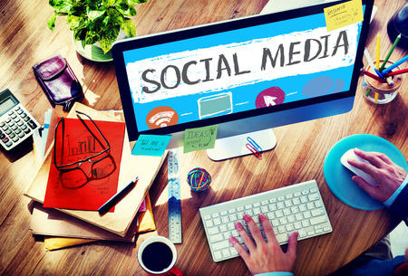 Social Media Social Networking Technology Concept de connexion Banque d'images - 44467669