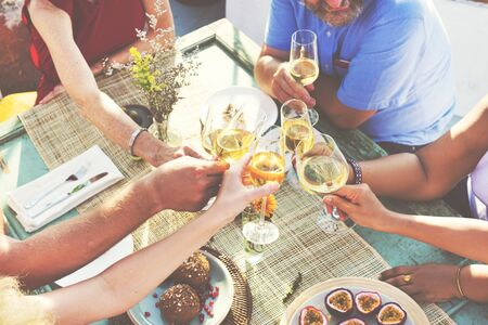 diversity: Diverse People Hanging Out Drinking Concept Stock Photo