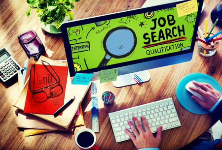 web: Job Search Qualification Resume Recruitment Hiring Application Concept
