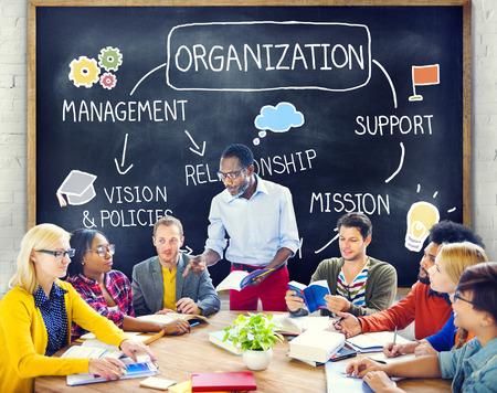 組織管理チーム グループ企業コンセプト 写真素材
