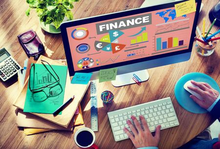 place of research: Chart Currency Loan Financial Growth Strategy Plan Concept Stock Photo