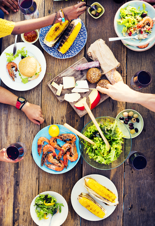 Food Table Celebration Delicious Party Meal Concept Stock Photo