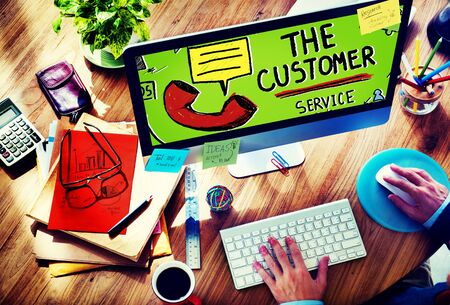 customer: Customer Service Support Solution Assistance Aid Concept