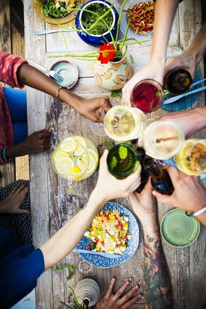Tabela Zdrowe Pyszne jedzenie posiłek organiczna Koncepcja