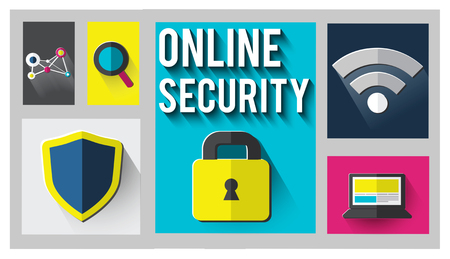 online security: Online Security Protection Password Privacy Data Concept