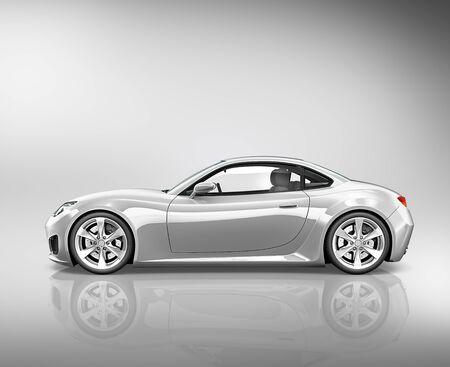 silhouette voiture: Sport 3D Car Transport Vehicle Concept Illustration