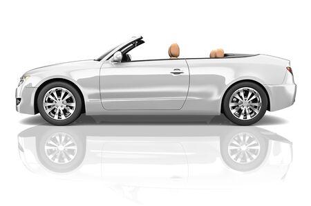 alloy: Car Convertible Transportation 3D Illustration Concept