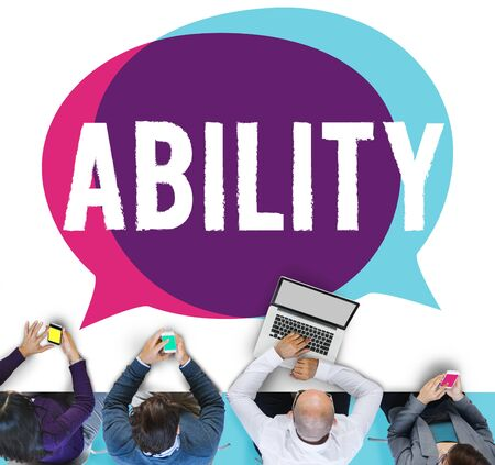 hábil: Ability Skilled Strategy Talent Vision Concept Banco de Imagens