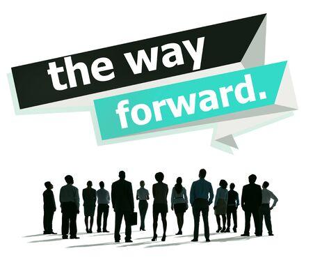 the way forward: The Way Forward Development Aspiration Goal Concept Stock Photo