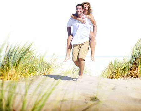 романтика: Пара Концепция Романтика Пляж Остров любви