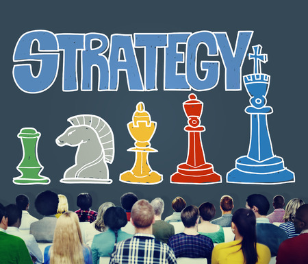 Strategy concept with audience Stock Photo