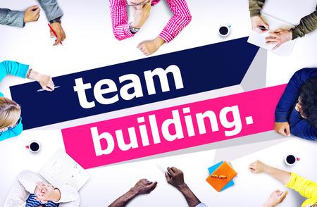 cooperación: Team Building Cooperar Cooperación concepto de gestión