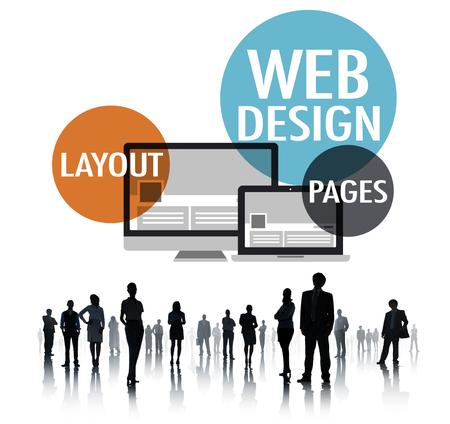 웹 디자인 콘텐츠 크리 에이 티브 웹 사이트 반응성 개념