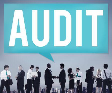 auditoria: Auditor�a Contabilidad Contabilidad Finanzas Concepto de Inspecci�n Foto de archivo