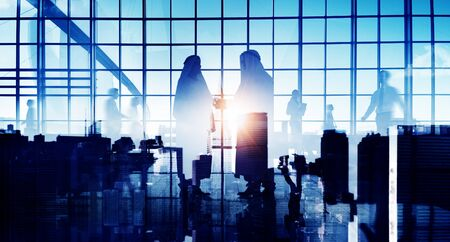 middle eastern: Middle Eastern Agreement Partnership Office Corporate Concept Stock Photo