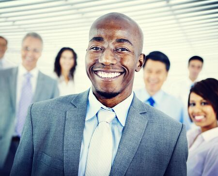 mixed age: Business People Team Success Cheerful Concept