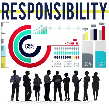 on duty: Responsibility Work Duty Trustworthy Roles Concept