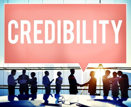 inspiration determination: Credibility Partnership Determination Inspiration Concept